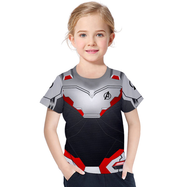 3D Digital Printing Kids' Clothing Short-sleeved T-shirt Round Neck For Girls And Boy Shirt Fake Two-piece - Chiclulu