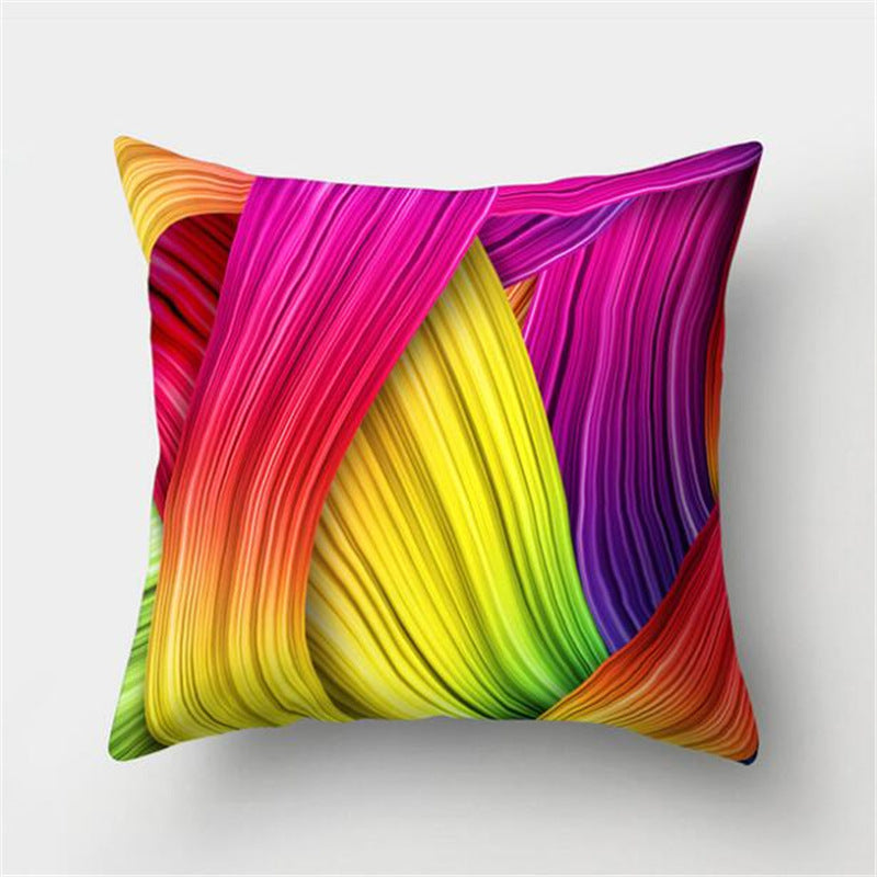 Square Throw Pillow Covers 45*45cm Rainbow Pattern