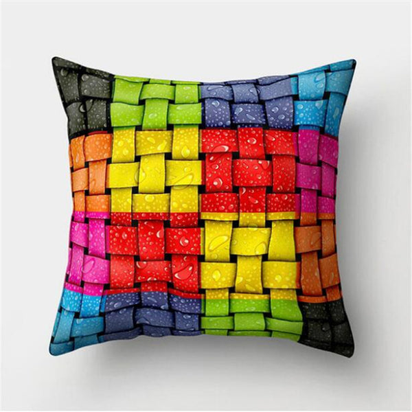 Square Throw Pillow Covers 45*45cm Geometric Pattern