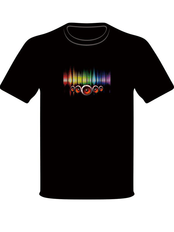 Men's LED T-shirts Flashing for Rock Disco Party DJ 28