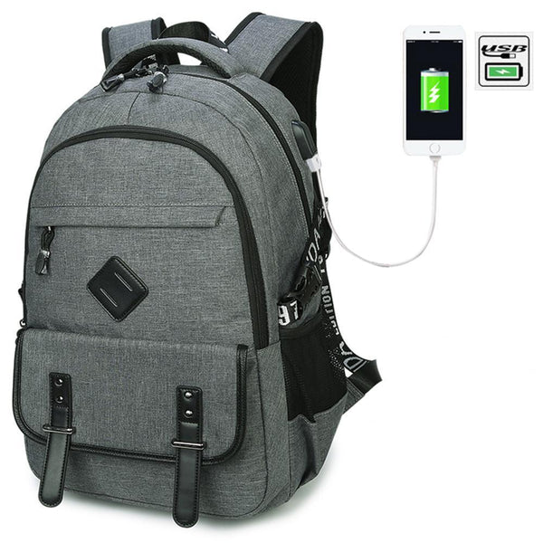 Nylon School Casual Backpack