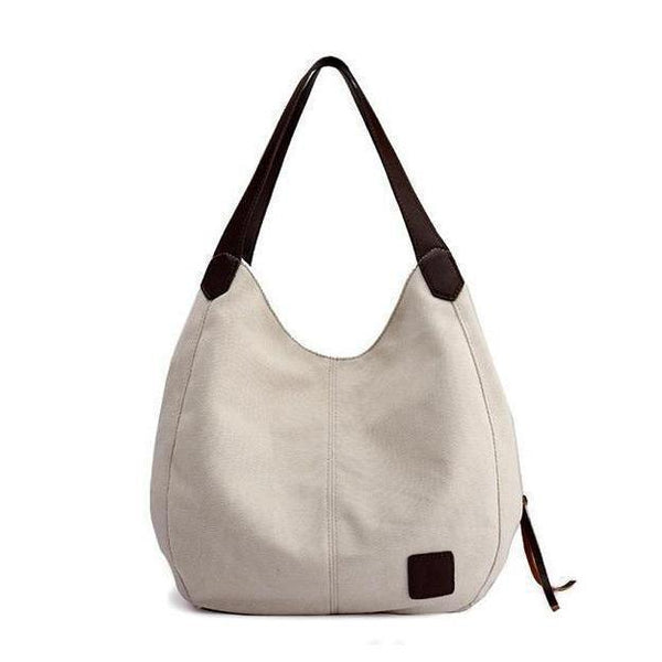 Canvas Vintage Female Shoulder Bag - Chiclulu