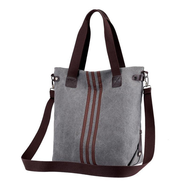 Canvas  Striped Casual Tote Shoulder Bags - Chiclulu