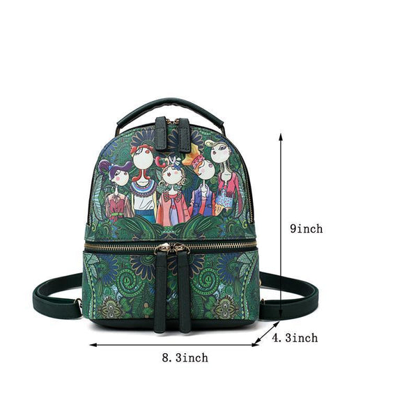 Cartoon Printing Women Backpack - Chiclulu
