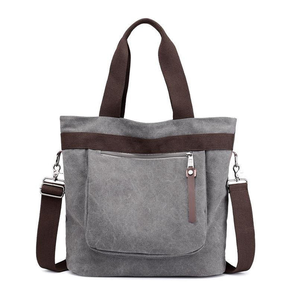 Canvas Large Capacity Shoulder Bag - Chiclulu