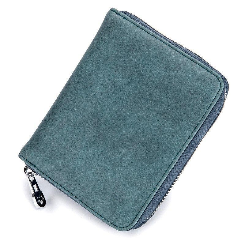 RFID Credit Card Holder Leather Wallet Vintage Women Passport Business Card Case Men Travel Purse  115611