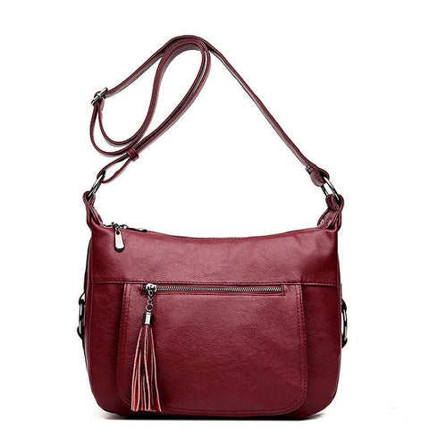 Large Capacity Women Tassel Crossbody Bags