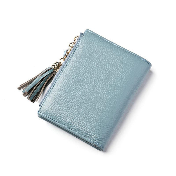 Genuine Leather Fringed Pockets Short Wallets - Chiclulu