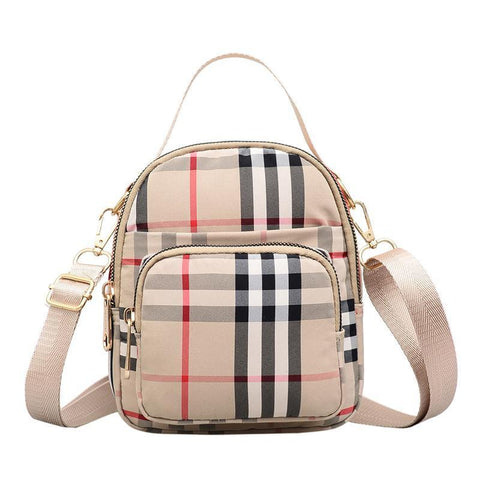 British Vintage Stripe Mini Shoulder Bag - Chiclulu