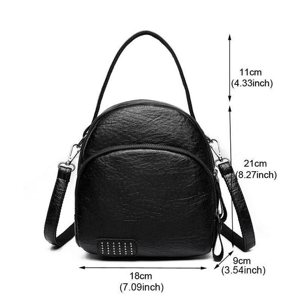 Three-layer Pocket Mini Backpack Shoulder Bag