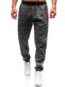Men's Solid Colored Printed Sweatpants 3431