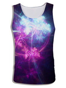 Men's 3D Digital Geometric Print Sleeveless Vest Tank Tops CX17