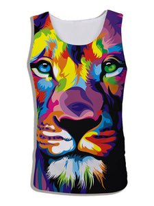 Men's 3D Digital Print Sleeveless Vest Tank Tops DW09