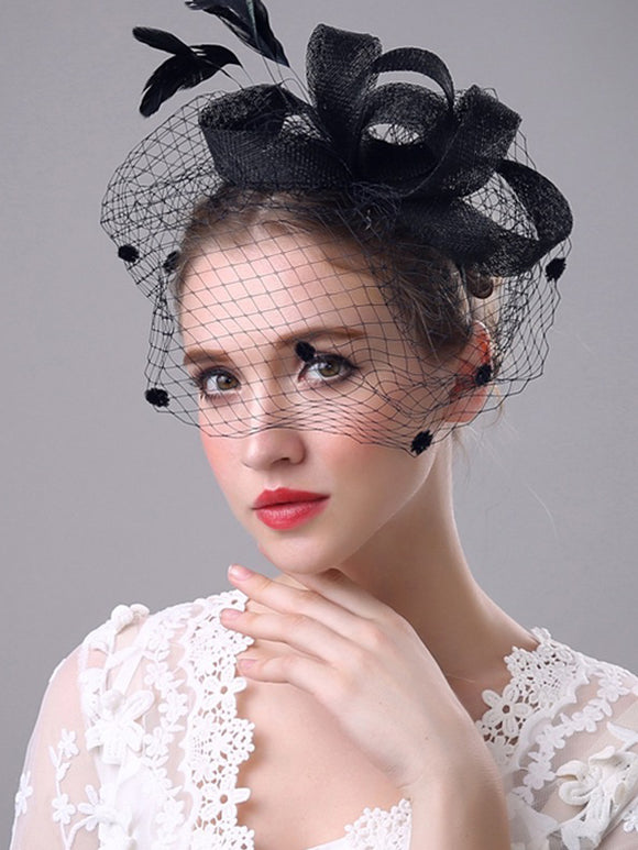 Feather/Net Kentucky Derby Hat 1pc Wedding/Party Headpiece LM-5626