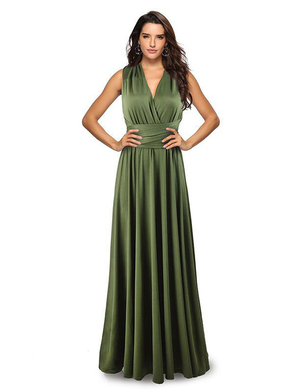 Women's Crisscross Back Evening Dresses LQ2035
