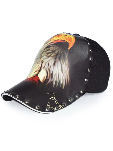 3D Eagle Polyester Cool Lightning Baseball Cap Hat