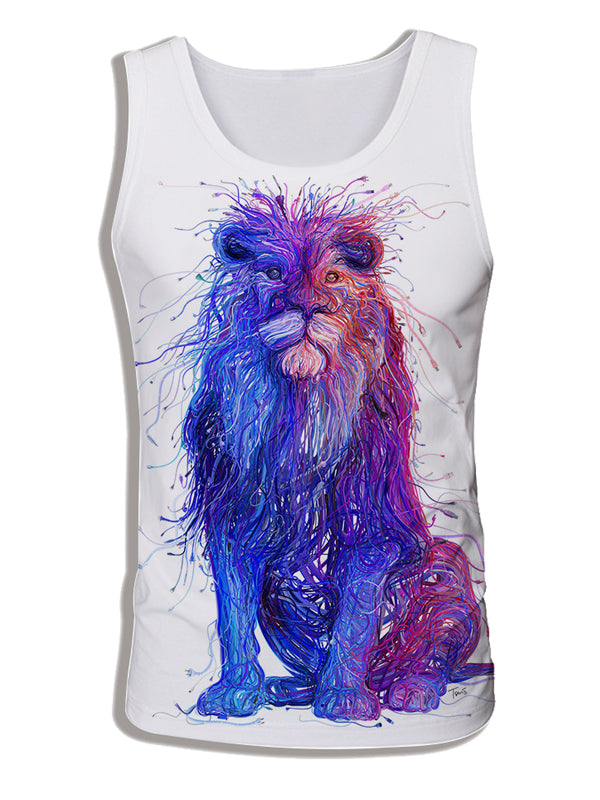 Men's 3D Digital Print Sleeveless Vest Tank Tops DW16