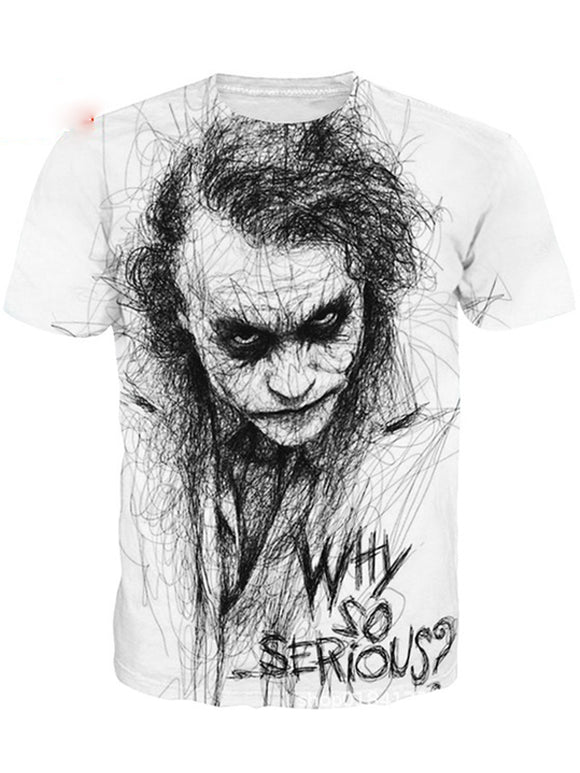 3D Printed t-shirt Clown For Men - Chiclulu