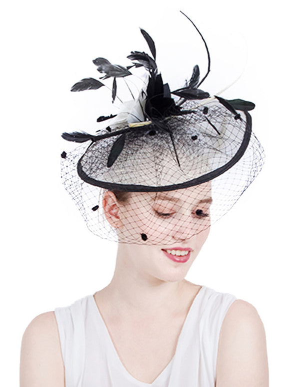 Feather/Net Kentucky Derby Hat 1pc Wedding/Party Headpiece SYF177