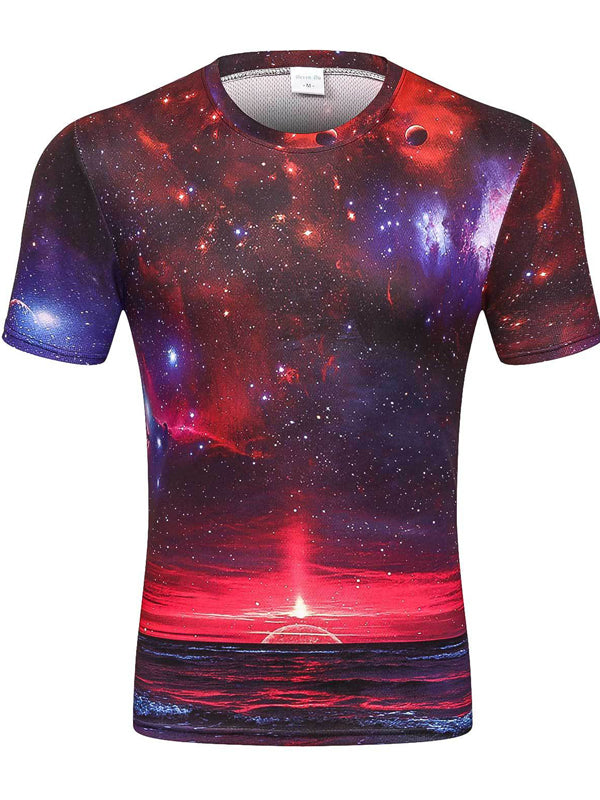 Men's Mesh Fabric 3D T-shirt Breathable Quick-drying D82