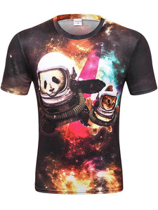Men's Mesh Fabric 3D T-shirt Breathable Quick-drying D81