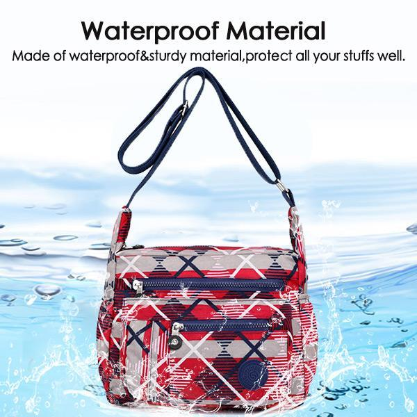 Nylon Waterproof Multi-pockets Crossbody Bag