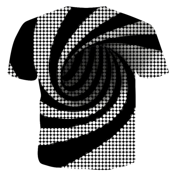 Men's Hip Hop T-shirt - Striped / Color Block / 3D Print Short Sleeve