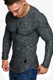 Men's Solid Color Round Neck Long Sleeve Slim T-Shirt MT103