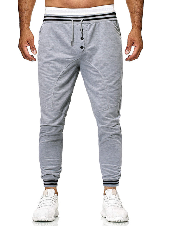 Men's Solid Colored Printed Sweatpants 1603007490