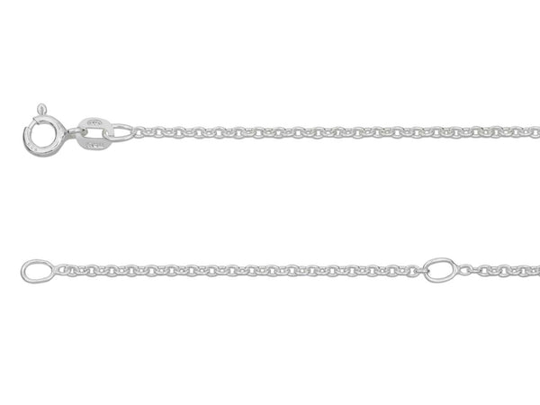 Sterling Silver 1.6mm Extendable Belcher Chain