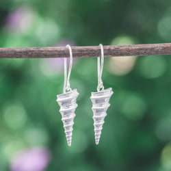 Spiral Screw Seashell Drop Earrings