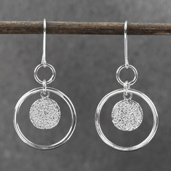 Full Moon Orbit Drop Earrings