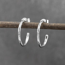 Mini Organic Hoop Earrings