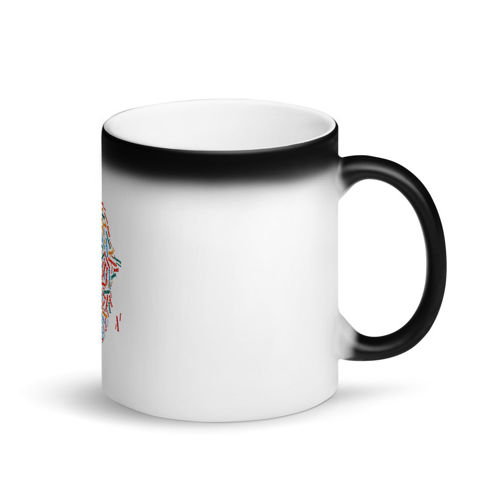 Map of Africa Black Matte Magic Mug
