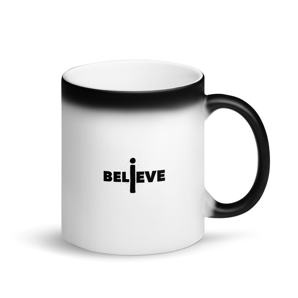 I Believe Black Matte Magic Mug
