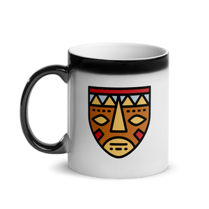 African Mask-Glossy Magic Mug