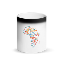 Load image into Gallery viewer, Map of Africa Black Matte Magic Mug