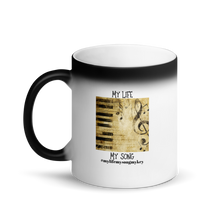 Load image into Gallery viewer, It's My Song Black Matte Magic Mug