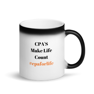 #cpaforlife Black Matte Magic Mug