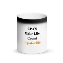 Load image into Gallery viewer, #cpaforlife Black Matte Magic Mug