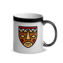 Load image into Gallery viewer, African Mask-Glossy Magic Mug