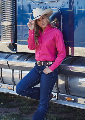 Womens Tracey Drill Long Sleeve Shirt