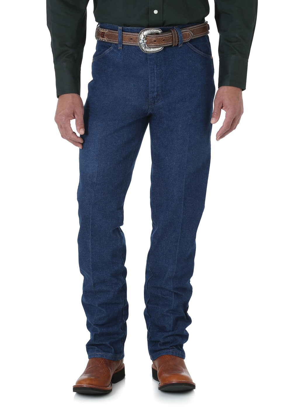 Mens Cowboy Cut Slim Fit Jean_Prewashed Indigo