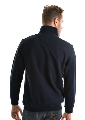 Mens 1/4 Zip Fleece Top (Dark Navy)