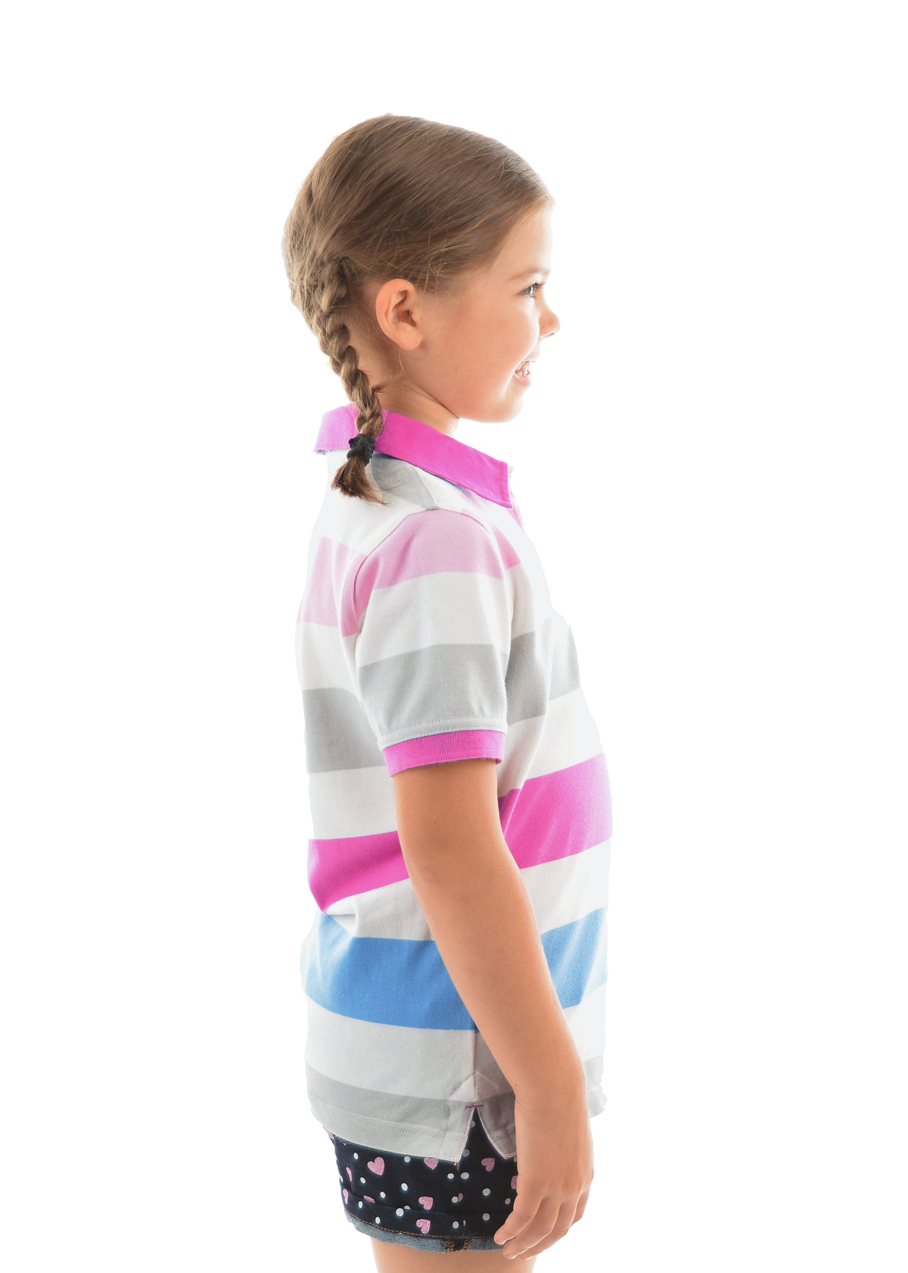 Girls Harper Stripe SS Polo