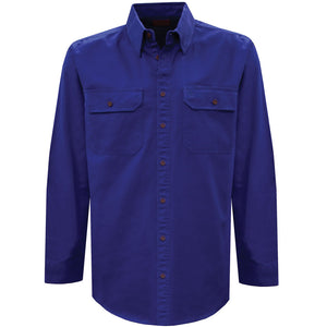 Light Drill Full Placket 2-Pkt L/S Shirt