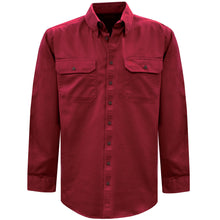 Load image into Gallery viewer, Mens Light Drill Full Placket 2-Pkt L/S Shirt - Various Colours