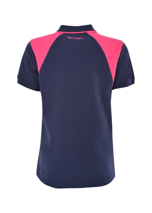 Womens Kelly Spliced S/S Polo (Navy/Pink)
