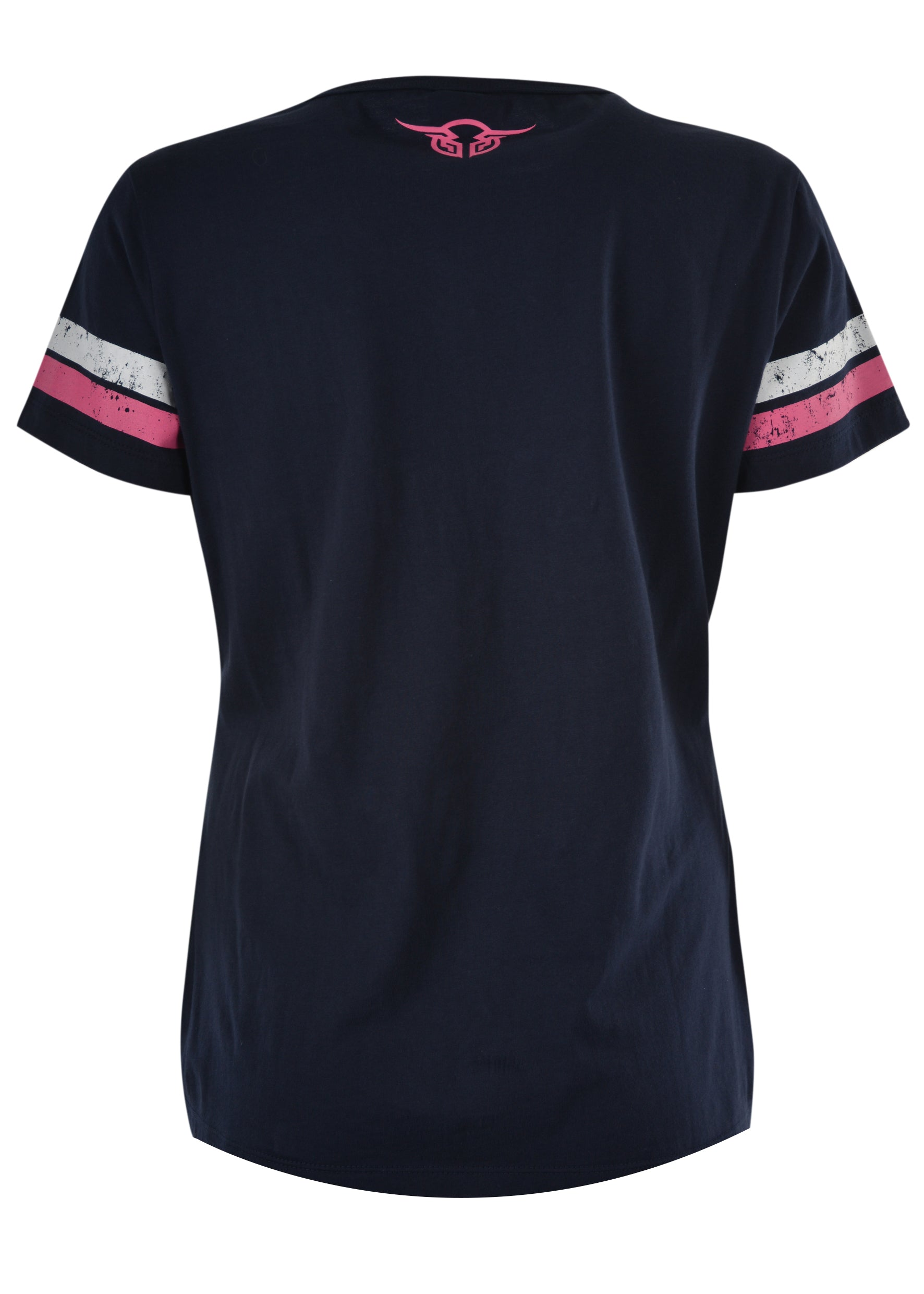 Womens Captured V-Neck Tee (Navy)