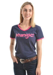 Womens Selina Short Sleeve Tee (Navy)